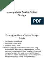 Konsep Dasar Analisa Sistem Tenaga