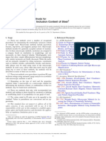 E45-13 Standard Test Methods for Determining the Inclusion Content of Steel