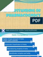 Understanding of Pharmacognosy