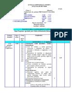 Planificare Integrata Clasa I 2017-2118