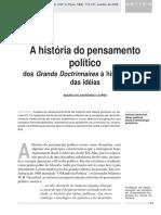 LOPES, M.a. História Do Pensamento Político