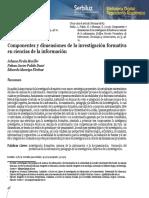 Componentes y Dimensiones de La Investigación Formativa en Ciencias de La i...