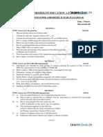 Cbse Class 11 Chemistry Sample Paper Sa2 2014 2