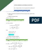 EJEMPLO Interpolación de Diferencias Divididas de Newton