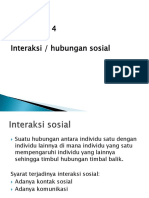 interaksi/ hubungan sosial
