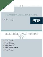 teori dasar psikologi sosial