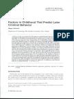 Factors in Childhood That Predict Later Criminal Bahavior - Viemerö (1996)