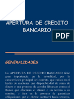 APERTURA de Credito