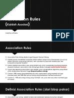 Association Rules[Ardytha Luthfiarta]