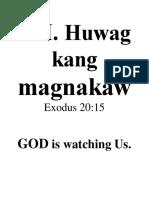 VII.huwag Kang Magnakaw