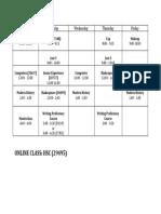 Senior Spring Schedule