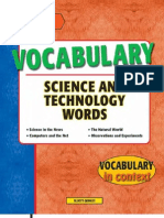 Vocabulary Science and Technology