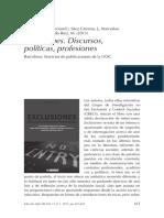 Exclusiones. Discursos, políticas, profesiones