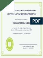 MODELO DE CRTIFICADO DE RECONOCIMIENTO
