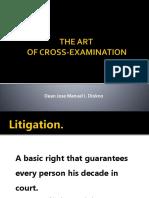 Art of Cross-examination August 2016