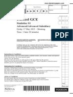 June 2013 QP S1 Edexcel