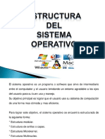 Estructuras (Capas) de Un Sistema Operativo