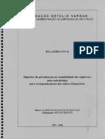Impactos Da Privatizacao Na Rentabilidade Das Empresas - Uma Metodologia Para Acompanhamento Dos Indices Financeiros