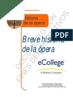 Breve Historia de La Opera
