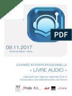 Programme livre audio numérique