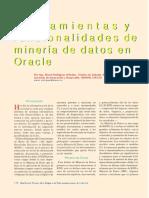 Herramientas y Funcionalidades de Minería de Datos en Oracle