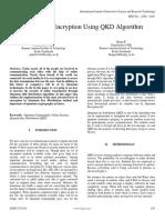 End to End Encryption Using QKD Algorithm
