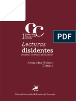Lecturas Disidentes. Recorrido y Memorias venezolanas. Alexandra Mulino (Compiladora)