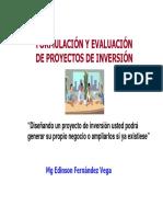 Formulacion de Proyectos de Inversión