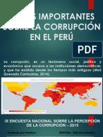 Datos Importantes Sobre La Corrupción en El Perú