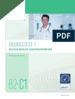 Telc Deutsch b2-c1 Medizin Fachsprachpruefung Uebungstest 1