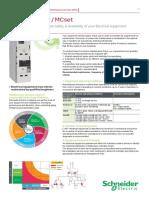 Maintenance Data Sheet MCset