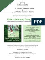 POZIVNICA - Prieč o Šumama, Šume Pričaju