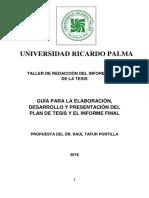 Guía Para Elaborar El P y El I F URP 2016