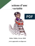 Didier Müller, Fonctions d'Une Variable