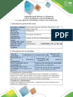 Guia de Actividades y Rubrica de Evaluación - Fase 3. Diseño de Sistema de Potabilización (Primera Etapa)