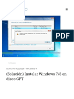 (Solución)Instalar Windows 7_8 en Disco GPT