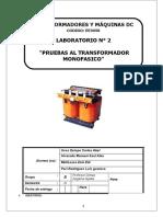 Informe Transformadores Lab 2