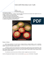 Muffin Salgado Receitas Low Carb
