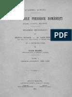 Alexandru Sadi-Ionescu - Publicațiile Periodice Românești - (Ziare, Gazete, Reviste). Volumul 1 - Catalog Alfabetic 1820-1906
