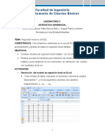 Laboratorio 3-Regresion Lineal Multiple en Excel