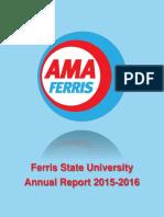 ferris state university 20152016 annual report