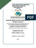 Plan de Practica Modulo II Toniger