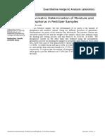 Gravimetric Determination of Moisture and Phosphorus in Fertilizer Samples