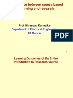 Diff Betn Course Based Learning and Research_Karmalkar_Aug 17 2017