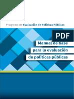 Modernizacion Gestion Por Resultados Manual Base Para La Evaluacion de Politicas Publicas 2016