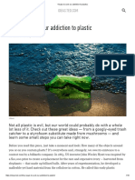 4 Ways to Curb Our Addiction to Plastic