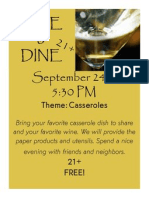 Wine Dine September