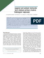 Zinc Oxide-eugenol and Calcium Hydroxide