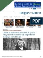 Gilles, El Niño de Cinco Años Al Que La Virgen Le Encomendó Un Importante Mensaje Para Pío XII - ReL