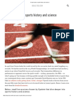 5 Must-reads on Sports History and Science